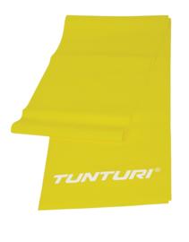 Tunturi Weerstandsband - Fitness elastiek - Lichte Weerstand - 120cm - Geel