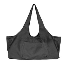 Mila - Yoga tas XL - canvas - open - Zwart