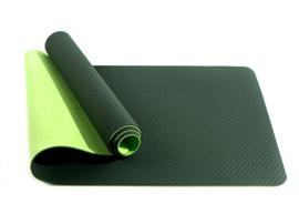 Mila  ECO Plus   Comfortabele yoga mat van natuurrubber / TPE   Donkergroen