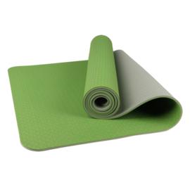 Mila  ECO Plus | Comfortabele yoga mat van natuurrubber / TPE | Lichtgroen