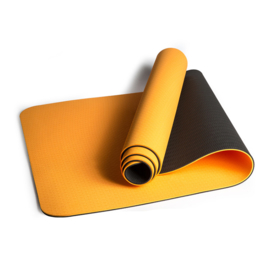Mila  ECO Plus | Comfortabele yoga mat van natuurrubber / TPE | Oranje