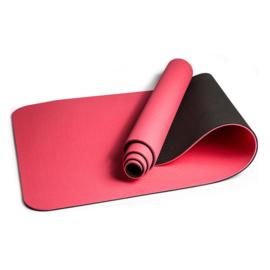Mila  ECO Plus | Comfortabele yoga mat van natuurrubber / TPE | Roze