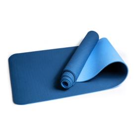 Mila  ECO Plus | Comfortabele yoga mat van natuurrubber / TPE | Blauw