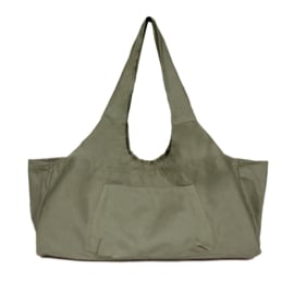 Mila - Yoga tas XL - canvas - open - Groen