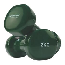 Halterset van twee gewichten - 2 x 2.0 KG - groen