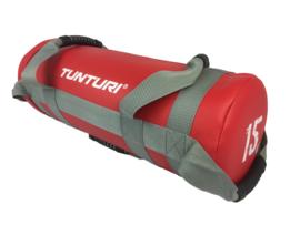 Tunturi Power bag - Strength bag - Sandbag - Fitness bag - 15 kg - Rood
