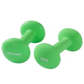 Halterset van twee gewichten - 2 x 4 KG - groen