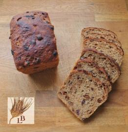 Biologische rozijnenbrood spelt bruin desem