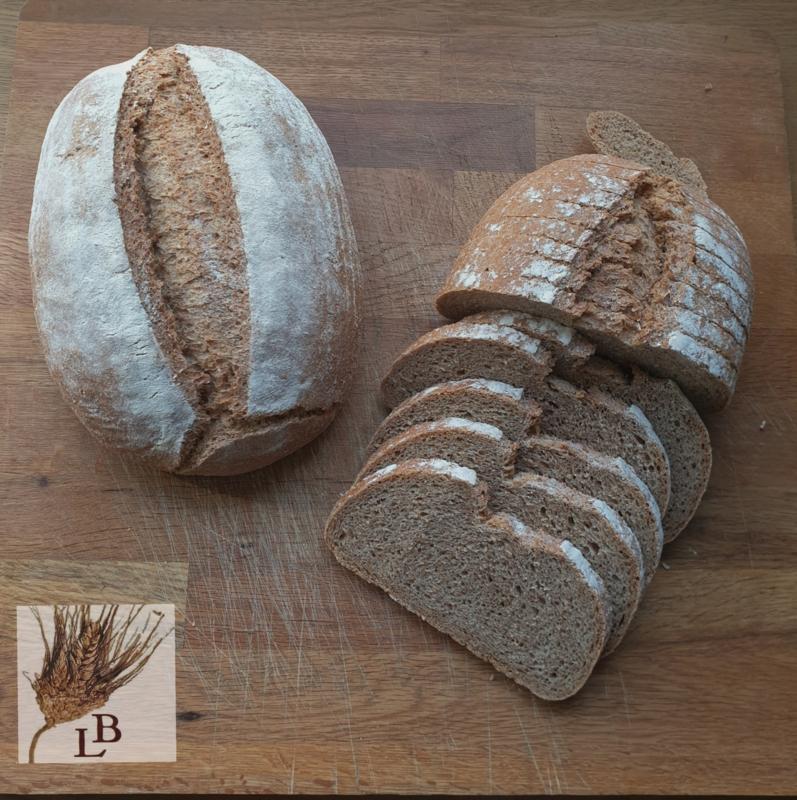 Biologische tarwe volkoren gistbrood (100% NL)