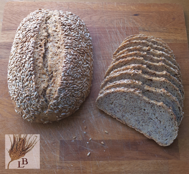 Biologische Zonnepit spelt wit gistbrood