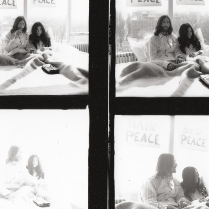 EXCLUSIEF Contactsheet John Lennon & Yoko Ono, maart 1969.