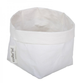"Essenti""al wasbare paperbag | opbergzak S wit"