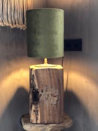 Tafellamp hout robuust