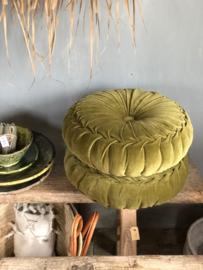 Velvet kussen GREEN