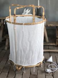 Hanglamp Bamboe L wit