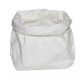 "Essenti""al wasbare paperbag | opbergzak M wit"