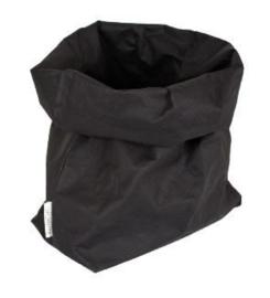 "Essenti""al wasbare paperbag | opbergzak L zwart"