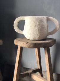 Paperpulp pot MARIE (neutraal)