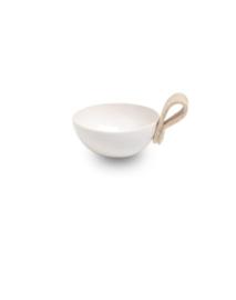 NADesign Kommetje wit met lus van vilt (11 cm.)