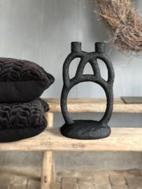 Kandelaar Bloomingville  zwart voor 2 kaarsen