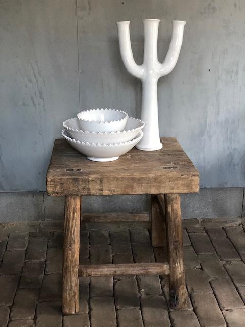 Houten robuust stoer tafeltje