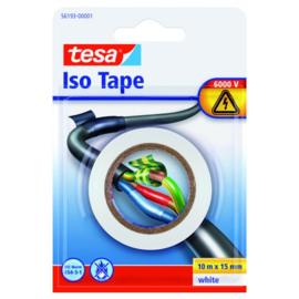 TESA Electrische Isolatie tape wit 10Mx15MM