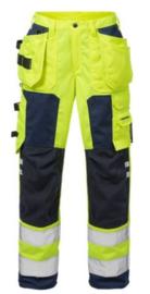 Fristad HiVis Damesbroek 2125 Fluorgeel/Marine