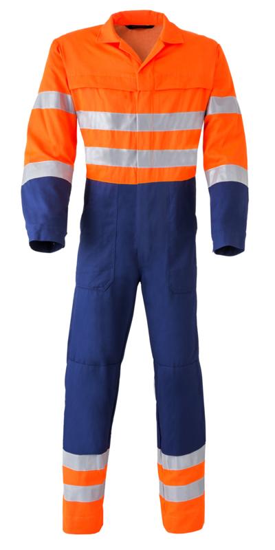 Havep 2415 Overall Donkerblauw Oranje
