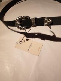 Carangle jeans PU belt zilver