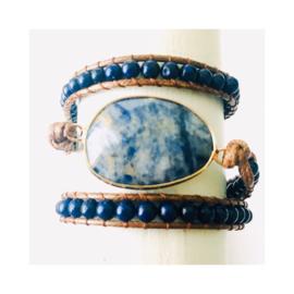 Wikkelarmband - blauw