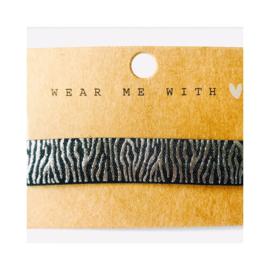 Zwart & zilver: zebra