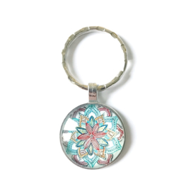 Mandala licht - sleutelhanger
