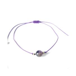 Ronde gem - Amethist paars