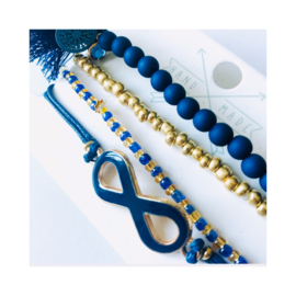 Blauw 'Boho chique' - goudkleur