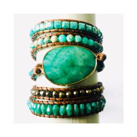 Wikkelarmband - turquoise