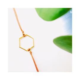 Goudkleurige Hexagon - terracotta