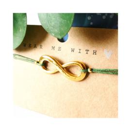 Goudkleurige infinity - olijfgroen