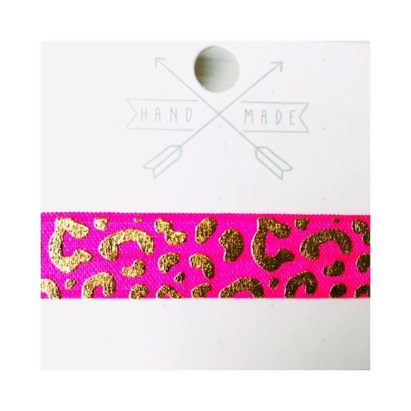 Fuchsia & goud: panterprint