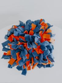Snuffelmat blauw oranje