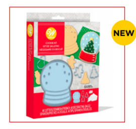 Snow globe cookie kit - 12 delig