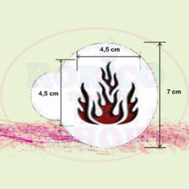 Vlammen - stencil sjabloon