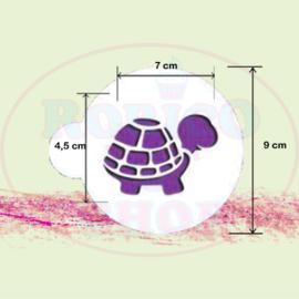 Schildpad - stencil sjabloon