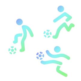 Voetbal spelers - stencils set/3