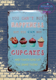 Happiness Cupcakes - Vintage metal sign