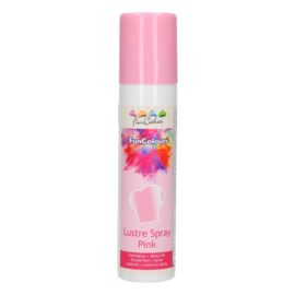 Roze Metallic Lustre Spray - 100ml funcolours