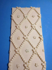Pearls and flowers - Border mold 30x10 cm