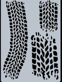 Bandensporen - stencil A6
