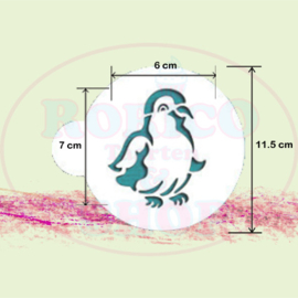 Baby Pinguin - stencil sjabloon