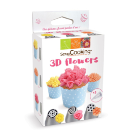 3D flowers decorating set/6