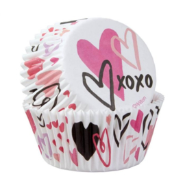 Traditional Valentine - Bakingcups - pk/75